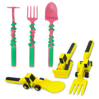 construction eating utensils, garden eating utensils