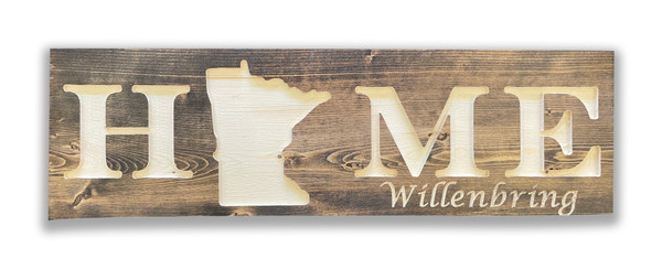 Personalized Wood Sign Made in Mn