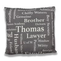 word cloud pillow
