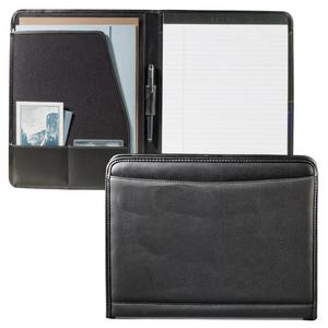 Personalized agenda made of durable steerhide black leather and saddle stitched with debossed initials