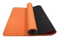 Alma Eco-TPE Yoga Mat 2 Tone Orange 6mm