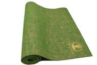Splendid Natural Jute Yoga Mat Green 5mm