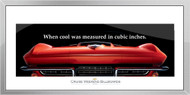 Corvette Framed Print - When cool was measured...