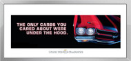 Chevelle Framed Print - The only carbs you cared about...