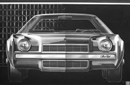 1972 Chevrolet Monte Carlo AIrbrush Poster