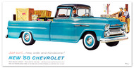 1958 Fleetside Chevy Truck Billboard Banner
