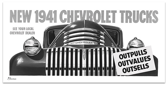 1941 Chevy Truck Billboard Banner