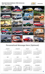 Chevrolet Trucks 1981 - 2000 Collection 2020 Wall Calendar