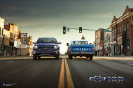2018 Silverado and 1972 C10 Centennial Art Poster
