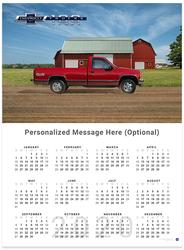Chevy Trucks Centennial 1988 - 1998 2020 Wall Calendar
