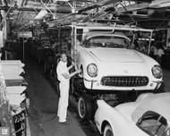 1954 Corvette St Louis Assembly Plant Poster
