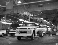 1966 GMC Chassis Cab Assembly Plant Poster