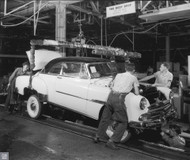 1951 Chevrolet Bel Air Assembly Plant Poster