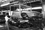 1961 Corvette Assembly Plant Poster