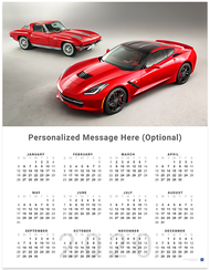 C7 Corvette Stingray 2020 Wall Calendar