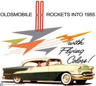 Oldsmobile Rockets 1955 Ad Poster
