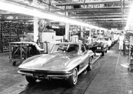 Chevrolet C2 Corvette Production Poster