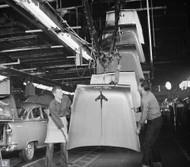 1955 Chevrolet Hoods Assembly Poster