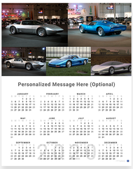 Corvette CERV 2020 Wall Calendar