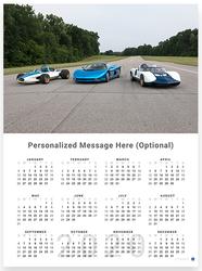 2020 Corvette CERV I, II & III Wall Calendar