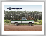 Chevy Trucks Centennial 1967 - 1972 Art Framed Print