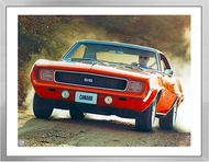 1969 Camaro SS Ad Framed Print
