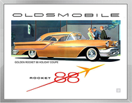 1950s Oldsmobile Ad Framed Print