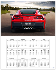 C7 Corvette Personalized License Plate 2021 Calendar