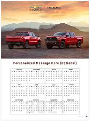 Silverado 2021 Wall Calendar