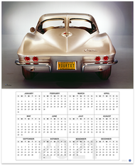 C2 Corvette Sting Ray Personalized License Plate 2021 Calendar