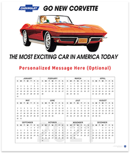 Classic Corvette Billboard 2021 Wall Calendar