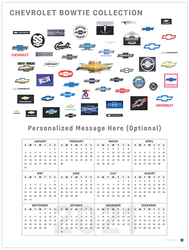 Chevrolet Bowties 2021 Wall Calendar