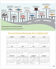 Chevrolet Bowtie Evolution 2021 Wall Calendar