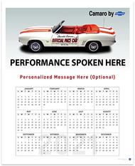 Classic Camaro Billboard 2021 Wall Calendar
