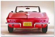 Corvette Sting Ray Convertible Personalized Poster