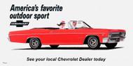 Chevrolet Impala Convertible Vintage 1966 Billboard Banner