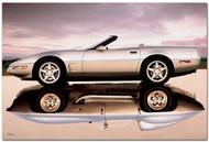 2003 Corvette Stingray Reflection Art Poster