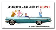 Chevrolet Impala Convertible Vintage 1961 Metal Sign