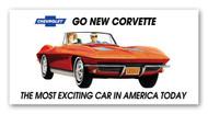 Corvette Vintage 1963 Metal Sign
