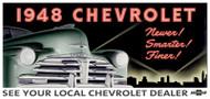 Chevrolet Vintage 1948 Metal Sign