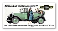 Chevrolet Vintage 1929 Billboard Banner