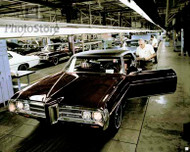 1969 Pontiac Bonneville Assembly Poster