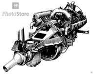 1917 Chevrolet Series D Engine Poster