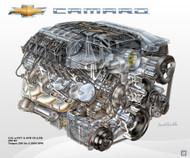 2010 Chevrolet Camaro 6.2L V8 L99 Powertrain Poster