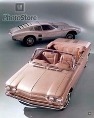 1963 Chevrolet Corvair Monza Convertible Poster