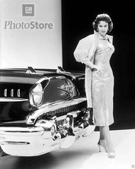 1957 Chevrolet with Betty Skelton Poster