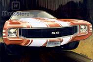 1971 Chevrolet Chevelle SS Design Art Poster