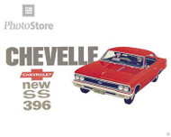 1966 Chevrolet Chevelle SS 396 Coupe Art Poster