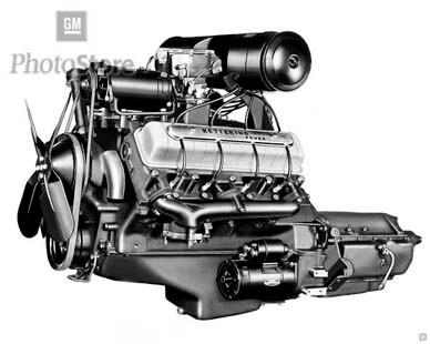 1949 Oldsmobile Rocket V8 Engine - GMPhotoStore
