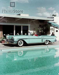 1958 Chevrolet Bel Air Impala Convertible Poster